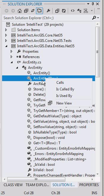 Visual Studio 11 Solution Explorer