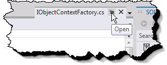 Visual Studio 11 Tab Promot Button