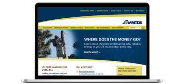 Avista main page