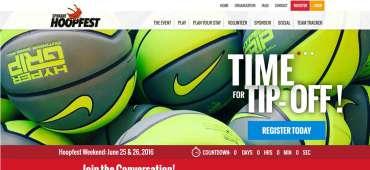 Spokane Hoopfest main page in desktop