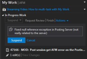 Suspend and Resume in Visual Studio using TFS - IntelliTect