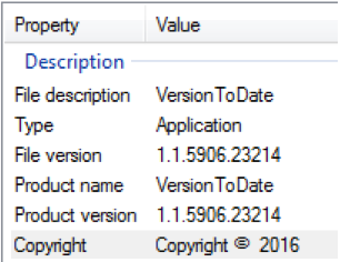 versiontodate details