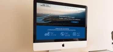 Okanagan main page on desktop