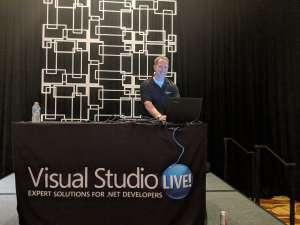Mark at Visual Studio Live, Chicago.