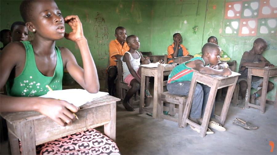 Sawla children in a classroom