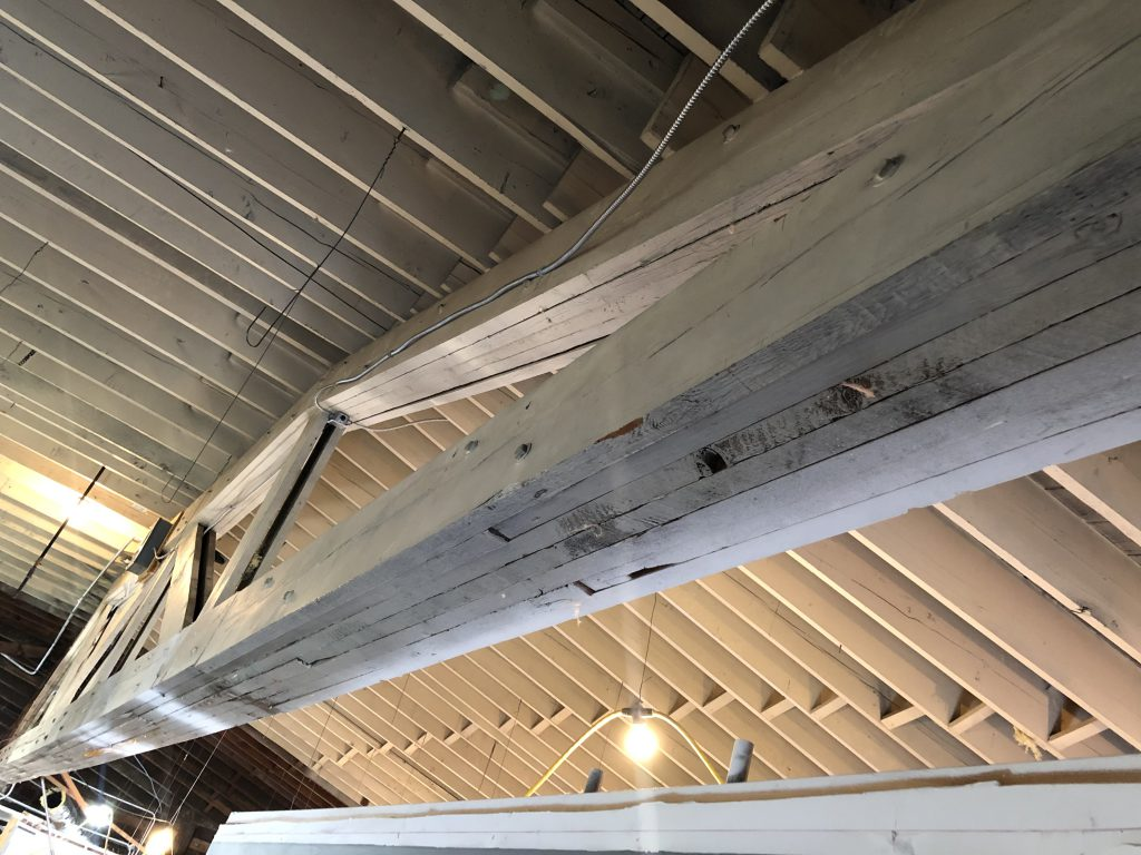 picture of rafters and a truss.