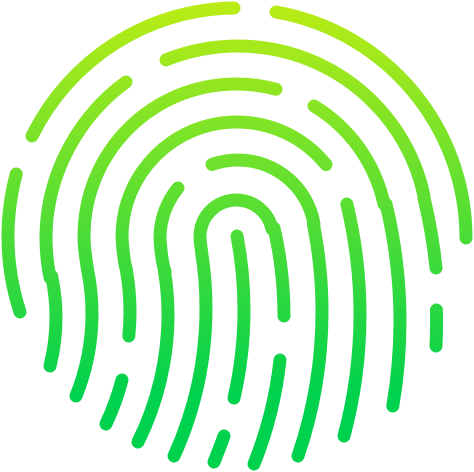 green gradient thumbprint