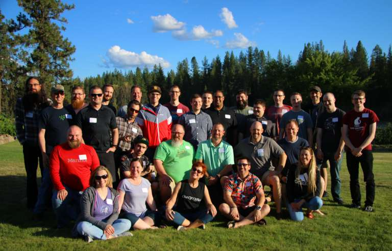 IntelliTect Company picture 2019 outside at the annual company picnic