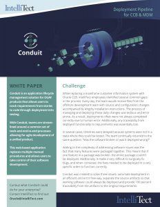 Preview of IntelliTec's Conduit software solution w/challenge info