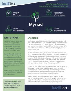 IntelliTect's Myriad Software overview with challenge info