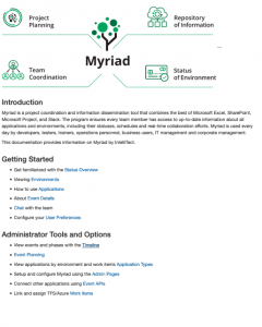 introduction to IntelliTect's Myriad software solution