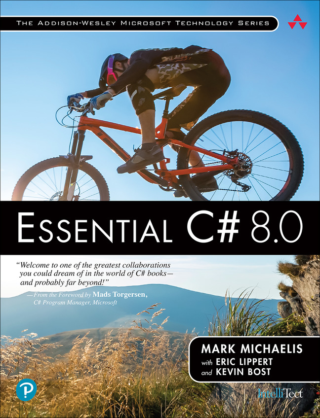 Book cover for Essential C Sharp 8.0 by Mark Michaelis with Eric Lippert and Kevin Bost