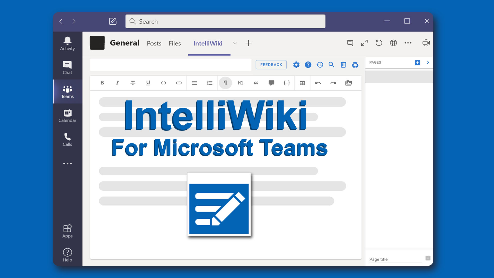 IntelliWiki for Microsoft Teams