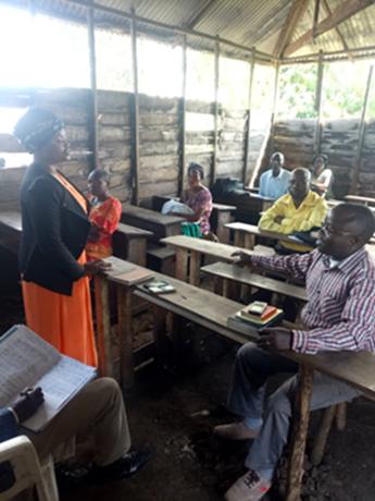Social distancing in a classroom in Congo