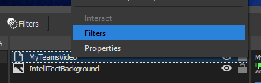 Selecting Filters within NDI