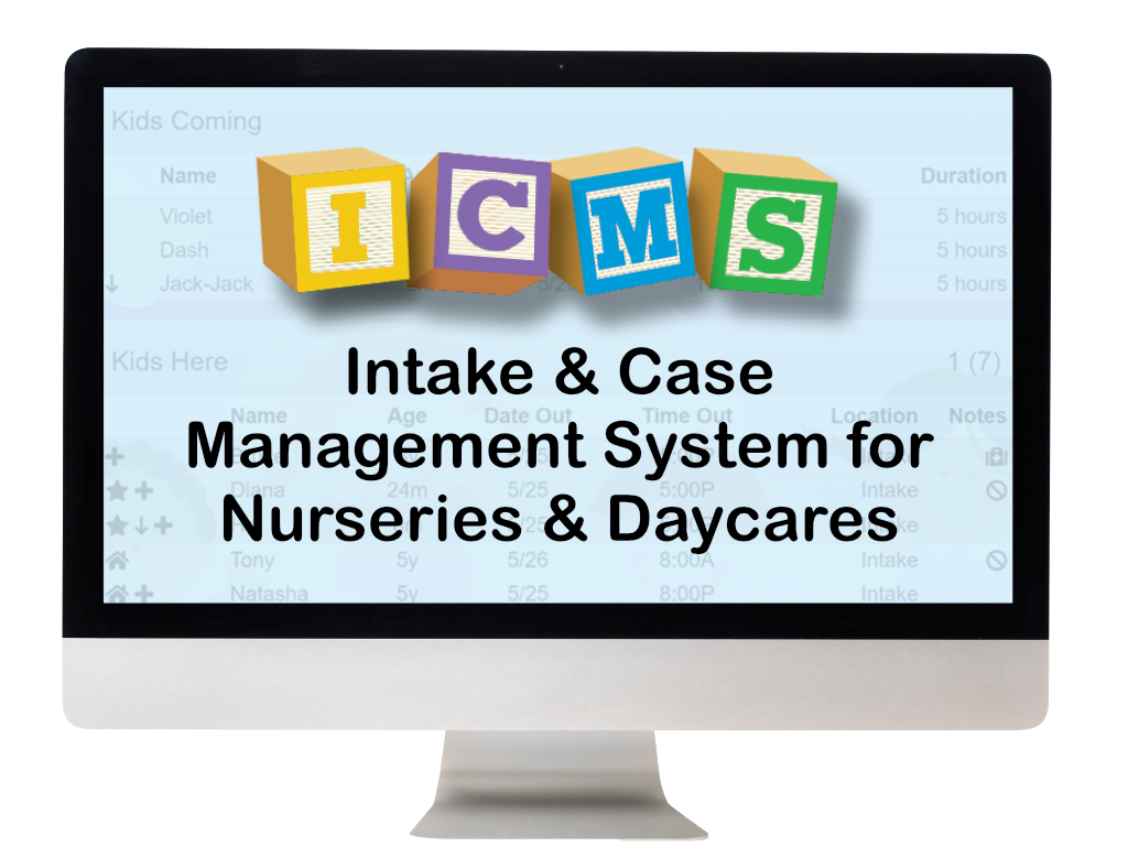 ICMS: crisis nursery software by IntelliTect in Spokane, Washington. It's a paperless system for childcare management workers