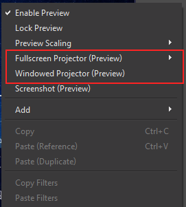 OBS Windows Project Preview